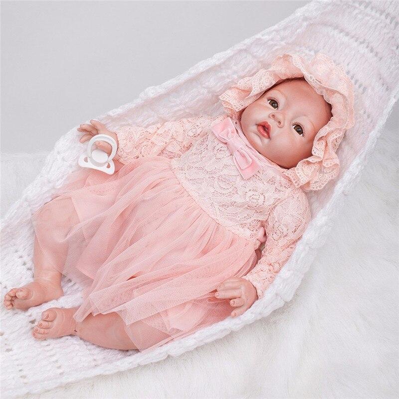 60 см очень большой От 6 до 9 месяцев reborn tollder Кукла adora реалистичный Новорожденный ребенок кукла ребенок игрушка девочка силикон reborn baby dolls - 2
