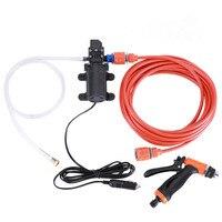 Car wash pump 12V Portable 100W High Pressure Car Water Gun Electric Washer Automatic shut down motor Auto Wash Pump Tool Set