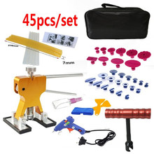 45Pcs/Set Metal Pdr Dent Lifter-Glue Puller Tab 20W Glue Machine Hail Removal Paintless Car Dent Repair Tools Kit(China)