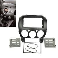 1x Car Stereo Fascia Dash Panel 2 Din Frame Trim Kit For Mazda 2/Demio 07 14 Hot
