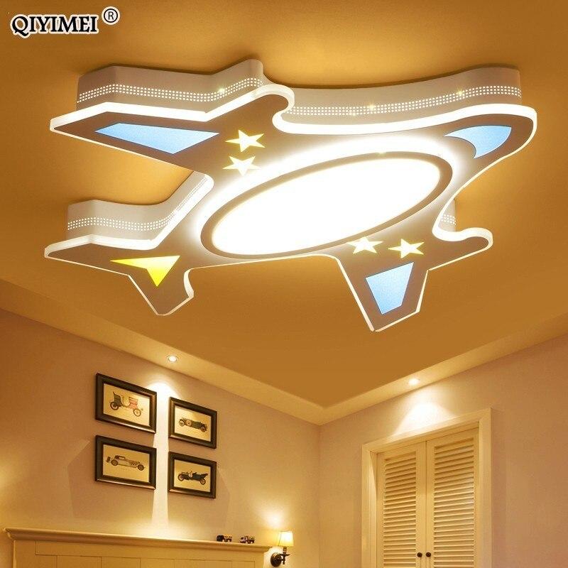 Plafond moderne à LEDs lumières enfants rêvant avion pour enfants chambre AC85-265V chambre décoration plafonnier luminaire