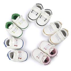 Осенние из искусственной кожи спортивная обувь для новорожденных мальчиков и девочек мягкая детская обувь для первых шагов Повседневная