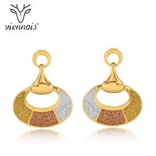 Viennois Mixed Color Dangle Earrings For Women Fashion Geometric Earrings 2018 Party Jewelry(China)