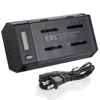 EBL Smart LCD Battery Charger with 2 USB Port,Discharge Function For AA/AAA/9V/C/D Universal Battery Charger