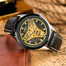 WINNER Mechanical Watch Men's Fashion Top Luxury Automatic Watches Self Winding Men Watches Retro Leather Man Clock Reloj Hombre pagani design automatic watch men waterproof mechanical watches mens self winding horloges mannen dropship