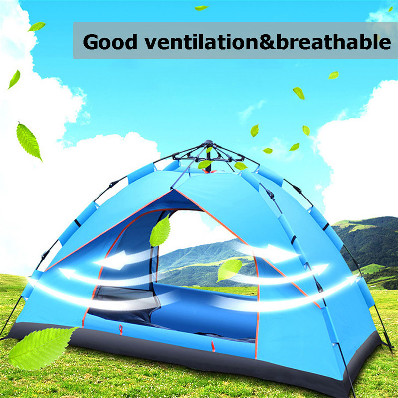 SGODDE 3-4 Persons Waterproof Outdoor Automatic Anti UV Camping Hiking Tent lightweight Beach Folding TentsSGODDE 3-4 Persons Waterproof Outdoor Automatic Anti UV Camping Hiking Tent lightweight Beach Folding Tents