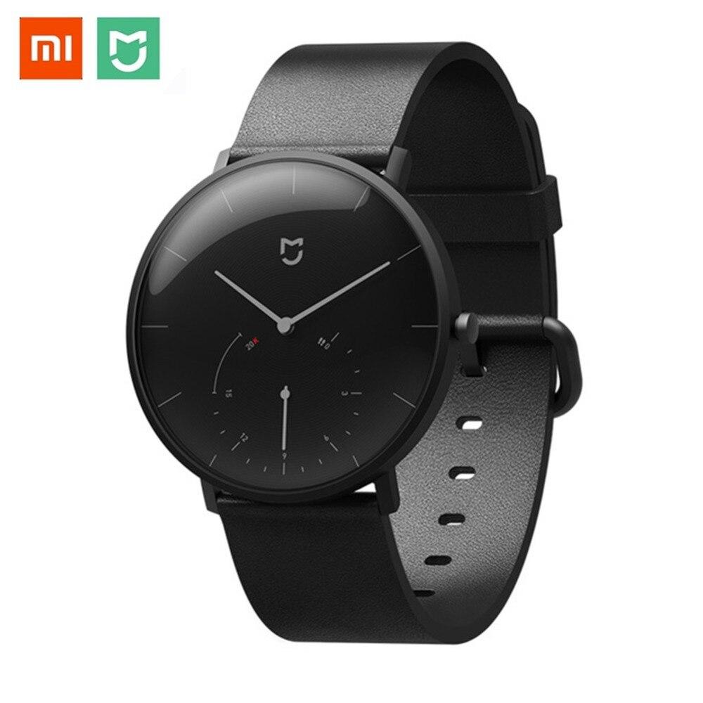 Original Xiaomi mi jia cuarzo reloj inteligente mi reloj de cuarzo BT IP67 resistente al agua reloj mecánico podómetro inteligente Re mi nder-in Pulseras inteligentes from Productos electrónicos    1