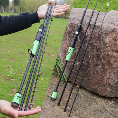 varas pesca porable luz alta carbono 4