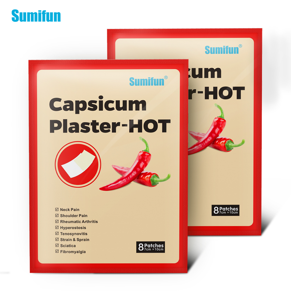Sumifun 40Pcs Hot Capsicum Plaster Pain Relief Patch Chinese Medical For Joints Pain Relieving Stickers D0655