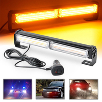For Car Light Source 1pc 36W COB LED Emergency Warning Flashing Strobe Light Amber Waterproof Beacon Light Bar Mayitr
