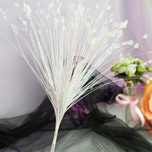 Artificial Flowers Gleaming Colorful Peacock Grass Flower Arrangement Accessories Reed Leaves Onion Wedding Decoration