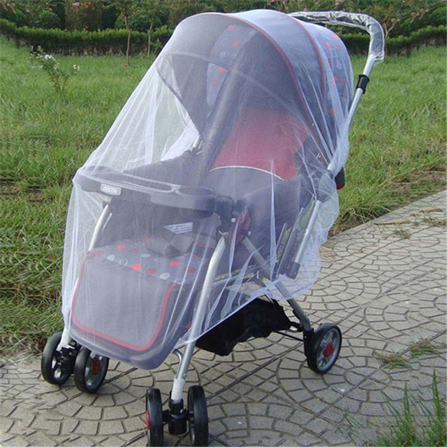 Baby Stroller All Cover Mosquito Net Baby Carriages Anti-mosquito Mosquito Nets Pushchair Stroller Fly Insect Protector Cover S3