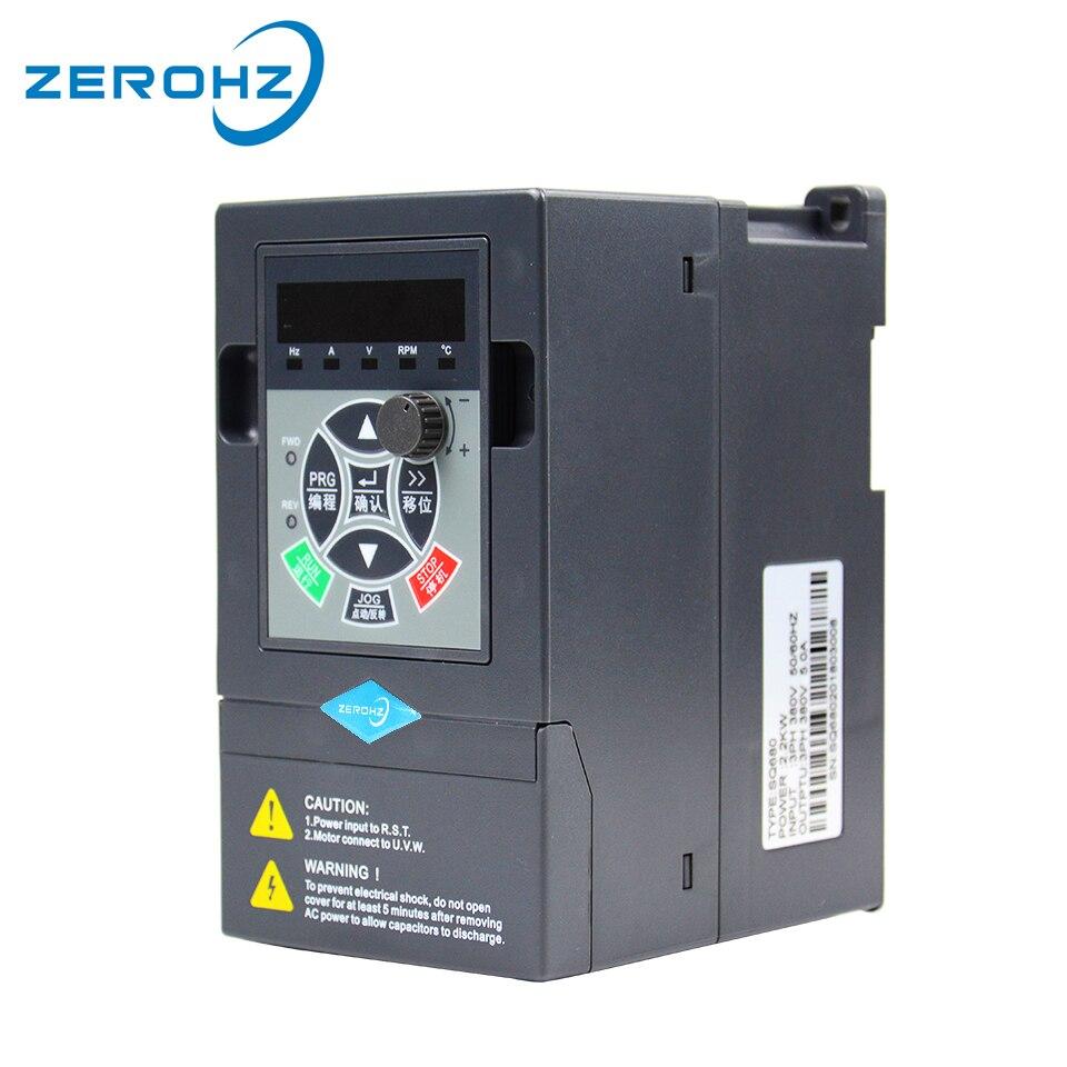 Convertisseur de fréquence pour moteur 380 V 0.75KW/1.5KW/2.2KW 3 phases d'entrée et trois sorties 50 hz/60 hz AC lecteur VFD convertisseur de fréquence