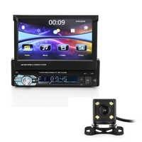 7 pollici Per Auto Bluetooth MP5 Lettore Auto DVD FM/MP5 Auto Radio Player Telescopica Grande Schermo GPS di Sostegno chiamata hands Free