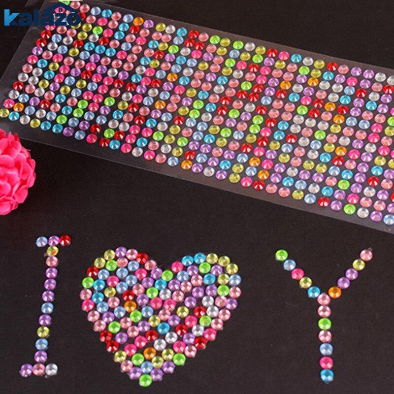 504pcs/sheet Beautiful Bling Crystal 6mm Rhinestones DIY Scrapbooking Stickers Arts Craft Supplies Nail Phone Decoration