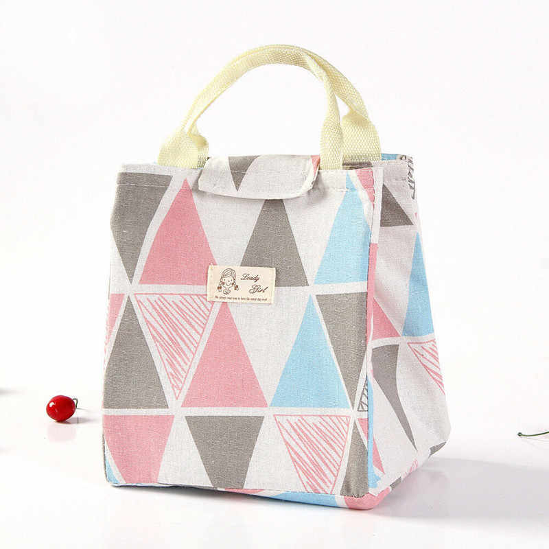 a3380e512d7d Pretty Aluminum Large Insulated Lunch Bag Cooler Picnic Travel ...