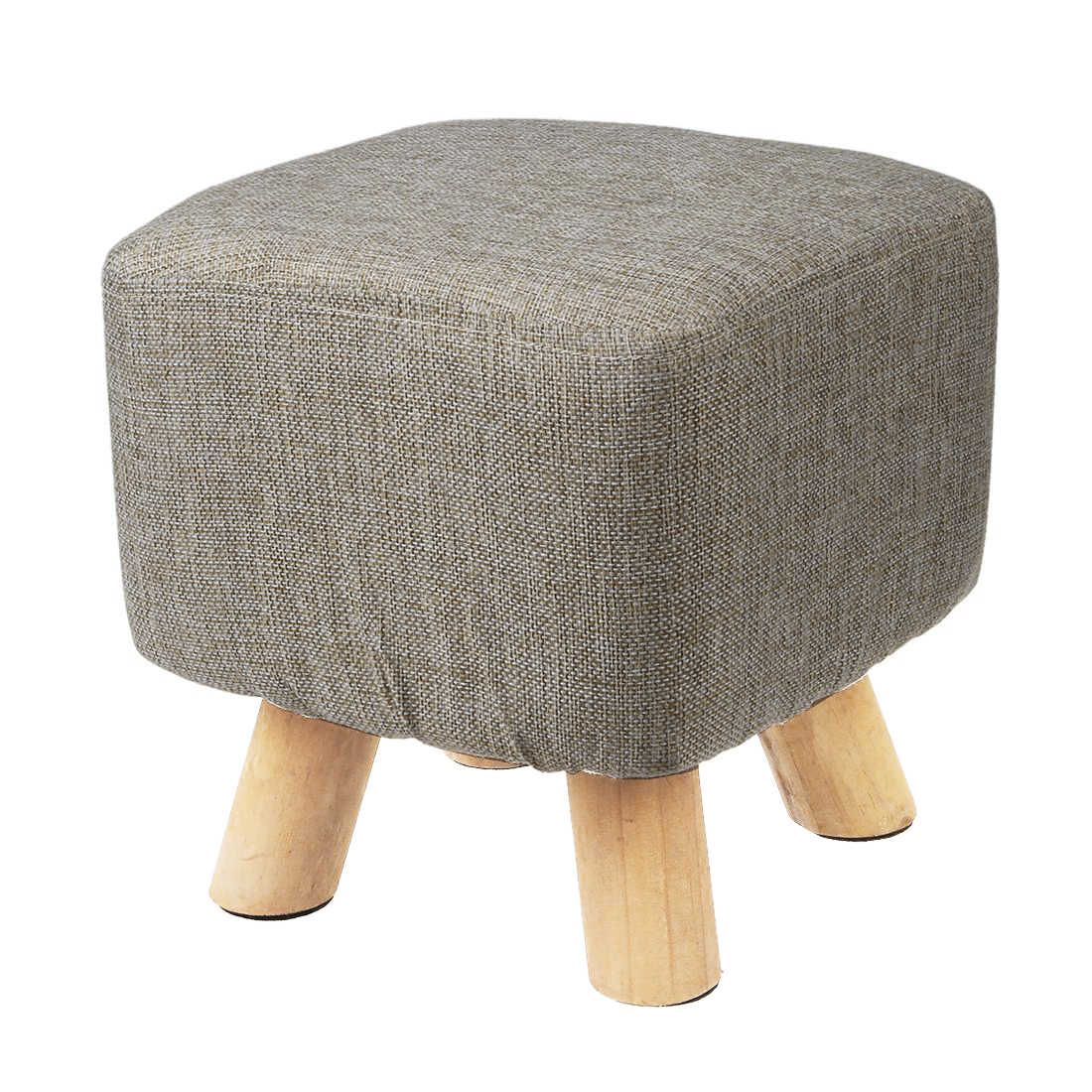 Sensational Promotion Modern Luxury Upholstered Footstool Pouffe Stool Wooden Leg Pattern Square Fabric Grey 4 Legs Pdpeps Interior Chair Design Pdpepsorg