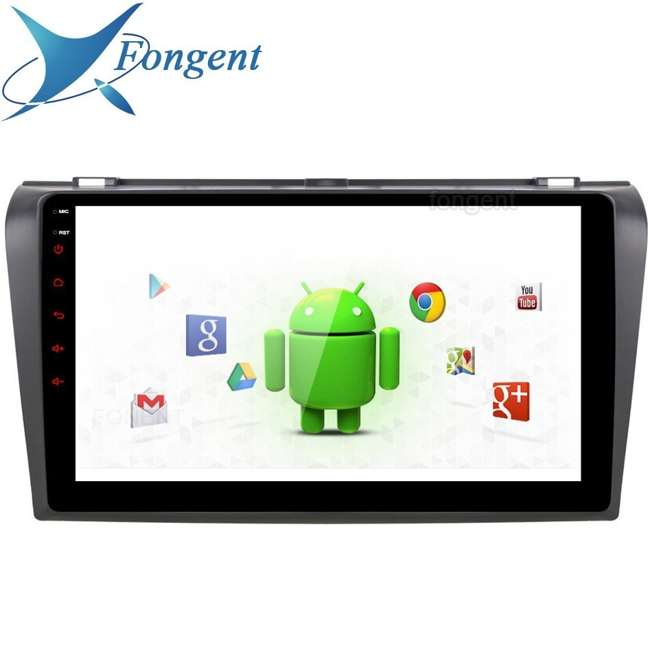 Android 9.0 Unit Radio Car Stereo for Mazda 3 <font><b>Mazda3</b></font> Radio 2006 <font><b>2007</b></font> 2008 Steering Wheel Control GPS Navigation RDS Multimedia image