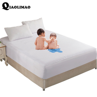 Towel Fabric TPU Waterproof Layer Fitted Sheet Cotton Breathable Soft Protective Mattress