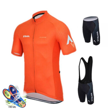 2019 STRAVA Cycling Jersey Set Mens Style Short Sleeves Clothing Sportswear Outdoor Mtb Ropa Ciclismo Bike Kits