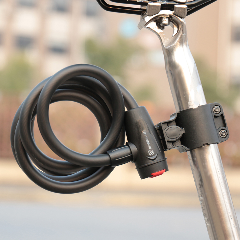 120cm Heavy Duty Bike Lock Cycling Bicycle Cable Alarm Anti Theft Security