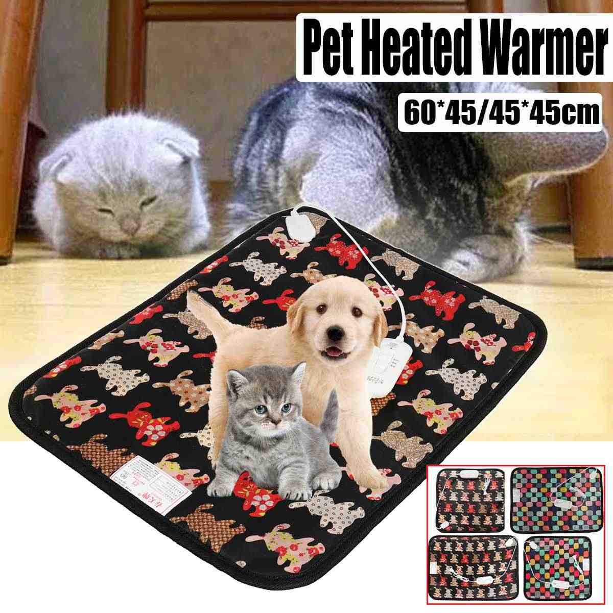 Waterproof Pet Heater Pad 45X45/60cm Pet Electric Heater Mat Anti-scratch Bite Cat Dog Pet Heated Blanket Cushion 220V 20/25W