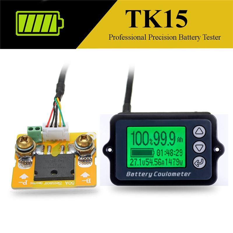 0-80 v bateria capacidade voltímetro atual tester impermeável lcd digital carro barco lítio chumbo ácido 18650 bateria indicador 12v24