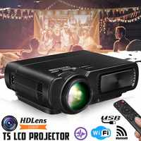 Mini Projector T5 LCD 7000 Lumens 1080P Full HD Wifi bluetooth Home Theater Android 6.0 Audio Speaker Home Theater Cinema