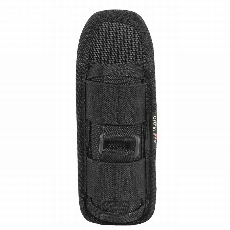 Tactical 360 Degree Rotatable LED Flashlight Pouch Torch Holster Case For Belt Torch Cover Hunting Lighting Accessories