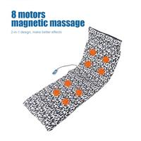 Electric Massage Chair Pad Mat Microcomputer Massage Mattress Vibration Heating Blanket Cushion Full Body Pain Relief Massager