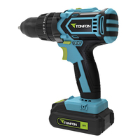 20V Wireless Electric Drill with spare lithium ion Battery Dual Speed Torque Brushless Cordless Electric Drill Hammer
