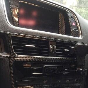 Image 3 - Audi için Q5 2009 2010 2011 2012 2013 2014 2015 2016 2017 karbon Fiber araba merkezi kontrol klima hava çıkış kapağı