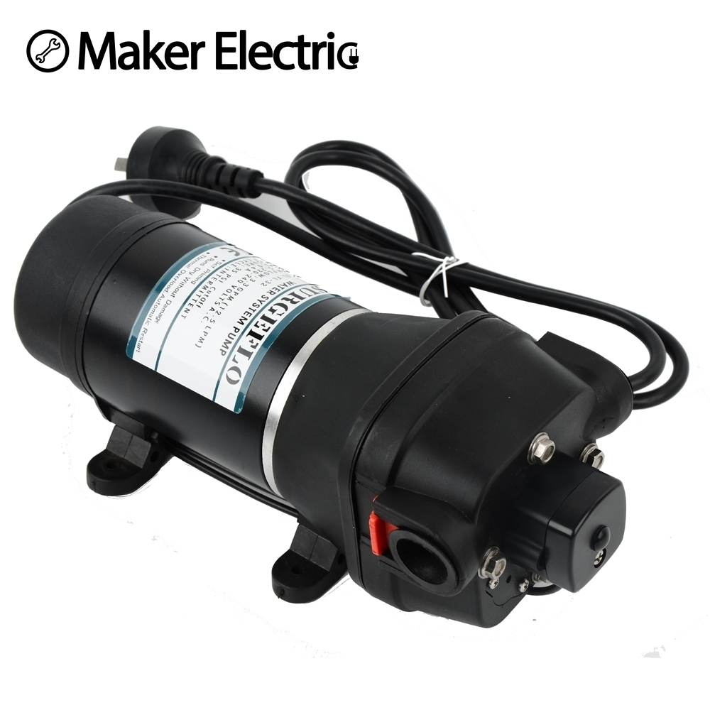 FL 32 220v ac water pump self priming diaphragm pump mini Submersible pump automatic pressure switch 20m lift in Pumps from Home Improvement
