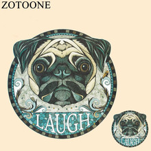 ZOTOONE Dog Iron On Transfers Stickers For T Shirt Applique Hot Heat Vinyl Thermal Clothes Fabric Decoration DIY Badge