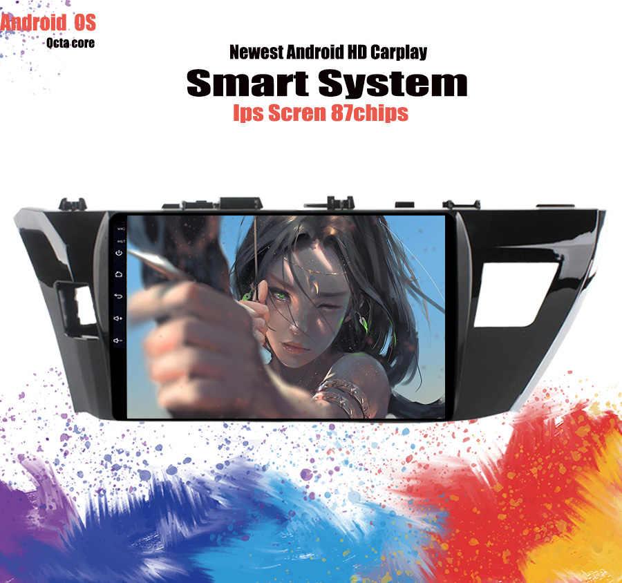 2 din Carplay Android 10.0 voiture lecteur dvd gps pour Toyota Corolla 20137 2014 2015 2016 2017 10.1 ''voiture stéréo radio magnétophone