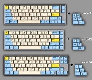 Image 4 - 1 set DSA PBT Sublimazione Chiave Cappellini 60% Tastiera Meccanica Chiave Cappellini Godspeed Colore di Corrispondenza Per Star Wars della Tela di canapa carattere