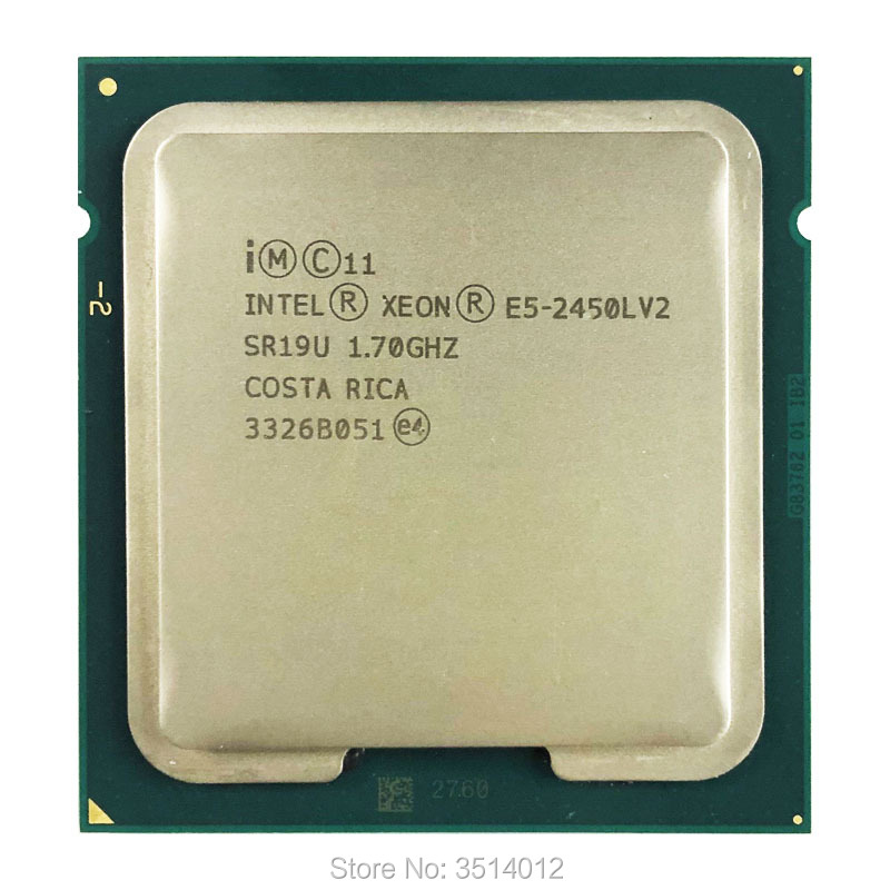 Intel Xeon E5 2450Lv2 E5 2450Lv2 E5 2450L v2 1 7 GHz Ten Core Twenty Thread