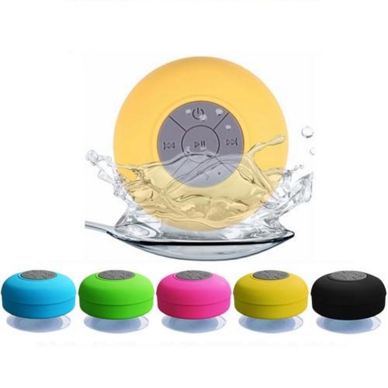 Wireless Bluetooth Speaker Stereo Handsfree Waterproof Car Bathroom Office Beach Stereo Subwoofer Music Loudspeaker With Suction