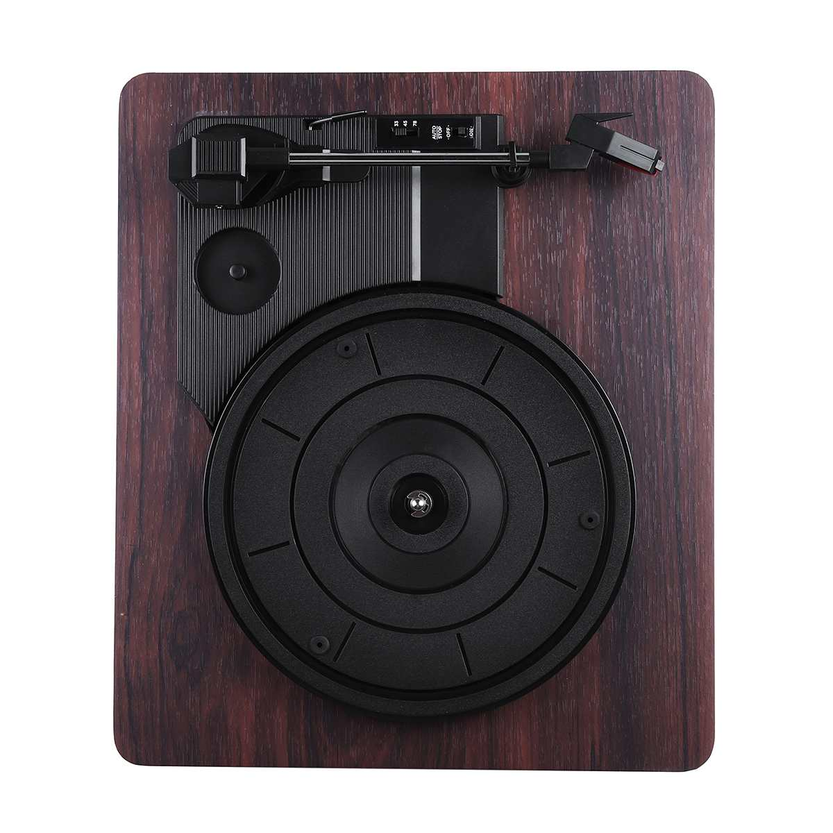 33, 45, 78 tr/min lecteur de disque Antique Gramophone tourne-disque vinyle Audio RCA R/L 3.5mm sortie USB DC 5V couleur bois - 2