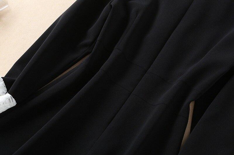Temperamento Fascia Di Delle 1 Che Abito All'inizio Nero Vestito Della Sottile Su Femminile Signore 2019 Velluto Piccolo Alta Dimagrisce Marea Misura Primavera Del xpw5YS