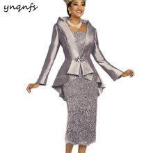 Платье женское кружевное до середины икры элегантный наряд из