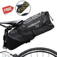 NEWBOLER 2018 Bike Bag Bicycle Saddle Tail Seat Waterproof Storage Bags Cycling Rear Pack Panniers Accessories 10L Max