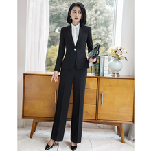 2018 Fashion Business Suits 2 Pieces Set Solid Color Blazer+ Wide Pant