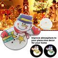 8 светодиодов с медным проводом  питание от батареей  подвесная гирлянда с изображением снеговика  Декор  Подвесная лампа  светодиодные фона...