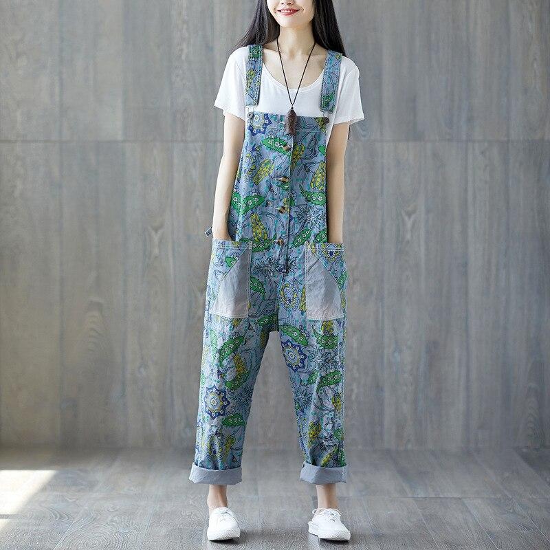 Women's Clothing 5xl Plus Size Women Denim Jumpsuits Autumn Wide Leg Ankle Straps Bib Pants Female Hip Hop Multi-pocket Jeans Overalls A72701