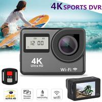 4K Touch Screen Action Camera Waterproof WIFI Dual Screen 12MP 30m DV 170 Degree Wide Angle Lens Sport Cam with Accessories