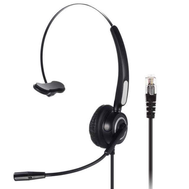 LEORY RJ9 Jack Call Center Headphone Monaural Customer Service Headphone Noise Reduction Headset Call Headphone with Microphone