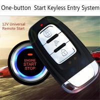 Car Comfortable Keyless Entry One Button Start Remote Control System|Starter Parts| |  -