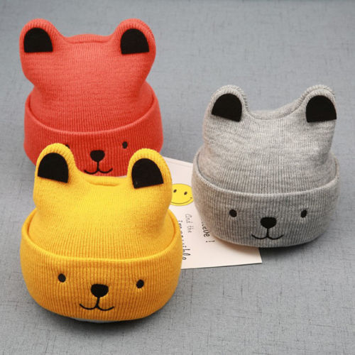 Pudcoco Cartoon Bear Hat For Kids 1