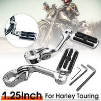 Pair Pegs Long/Short Foot Rests to fit for 1 1.25 Engine Guard for Harley Davidson Electra Glide, Road King, Street Glide